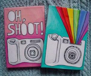 camera, rainbow, and art image