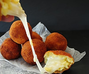 arancini, cheese, and food image