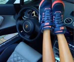 nike, car, and shoes image