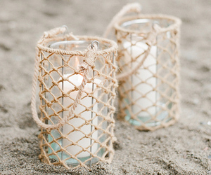 candle and beach image