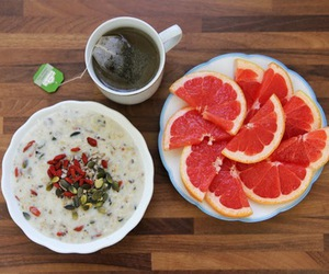 breakfast, food, and grapefruit image