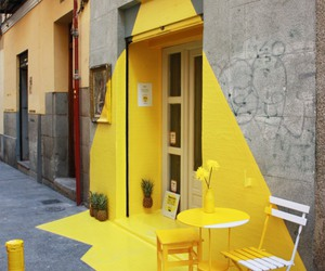 yellow, art, and street image