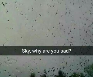 cry, rain, and sad image
