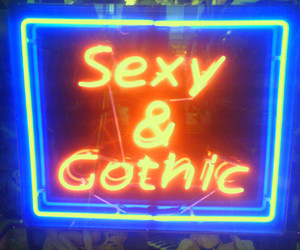 gothic, sexy, and neon image