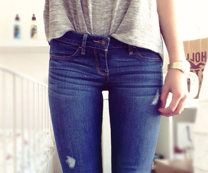 jeans, fashion, and hollister image