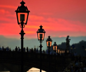 sunset, sky, and italy image