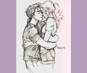 drawing, kiss, and pareja image