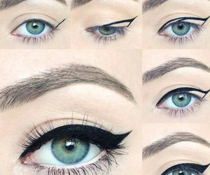 cool, tutorial, and wing eyeliner image