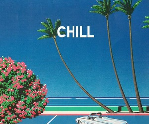 chill, car, and beach image
