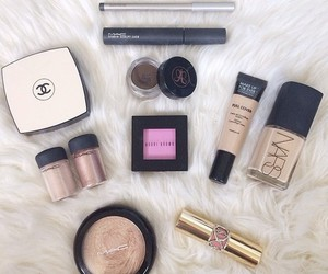 chanel, Maybelline, and mac image