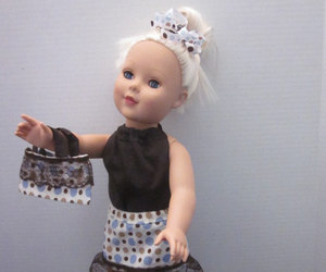 american girl, doll, and black image