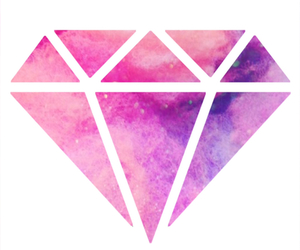 diamond, pink, and galaxy image