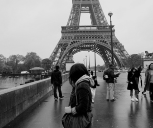 paris, black and white, and quotes image
