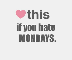 heart, monday, and hate image