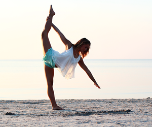 beach, fitness, and girl image