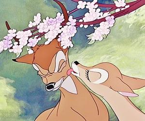 disney, bambi, and kiss image