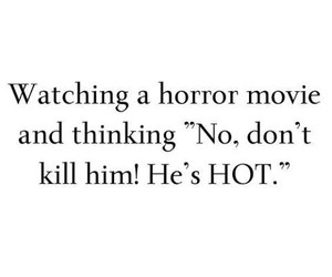 Hot, boy, and horror movie image
