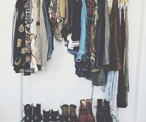 boots, clothes, and girl image