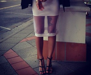 fashion, see through, and skirt image