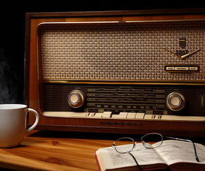 radio, vintage, and book image