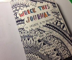 black, keri smith, and my wreck this journal image