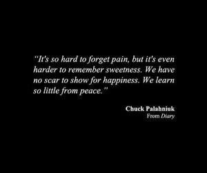 chuck palahniuk, pain, and hard to forget image