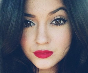 lips, kylie jenner, and make up image
