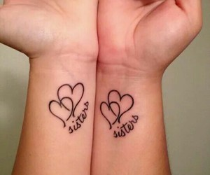 heart, sister, and tattoo image