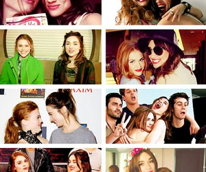 holland roden, crystal reed, and best friends image
