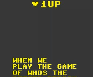 never, 1 up, and words image