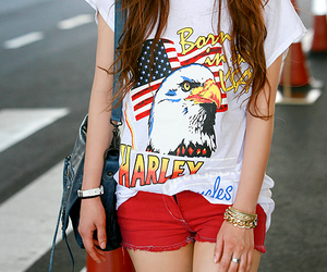 fashion, girl, and america image