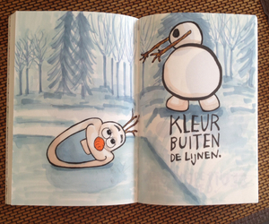 frozen, keri smith, and wreck this journal image