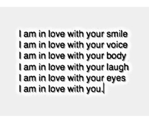 love, eyes, and smile image