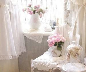 shabby chic, pastel, and pink image