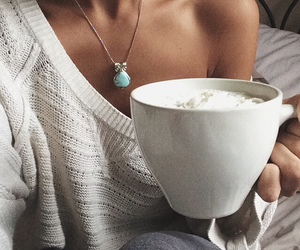 coffee, fall, and girl image