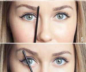 eyebrows, tutorial, and makeup image