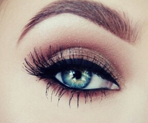 eye, blue, and makeup image