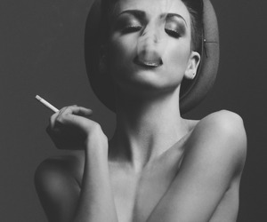 girl, smoke, and woman image