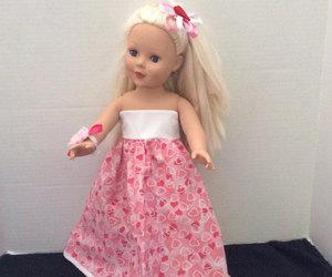 american girl, doll, and handmade image