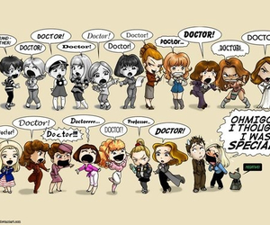 doctor who, rose tyler, and companion image