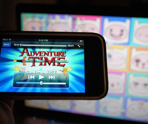 ipod, adventure time, and finn image