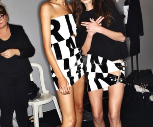 backstage, fashion week, and models image