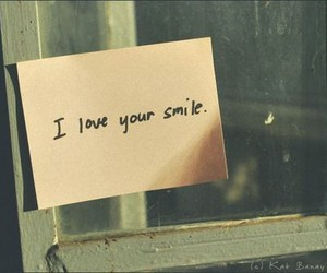 smile, love, and text image