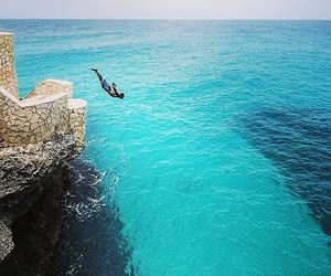 caves, diver, and jamaica image