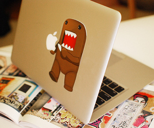 apple, domo, and laptop image