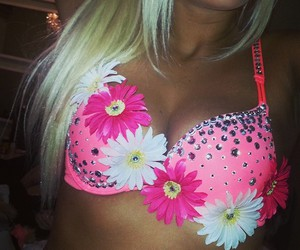 girly, rave bra, and pink image
