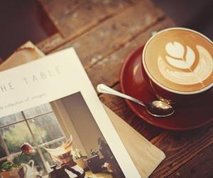 coffee, book, and girl image