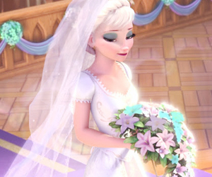 wedding, disney, and rapunzel image
