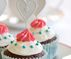 cupcake, heart, and sweet image