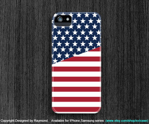 stars and stripes, iphone 5s case, and iphone 4 case image